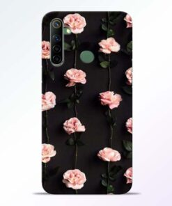 Pink Rose Realme 6i Back Cover