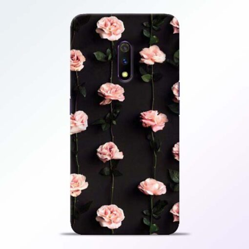 Pink Rose Realme X Back Cover
