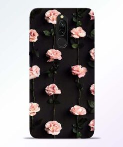 Pink Rose Redmi 8 Back Cover