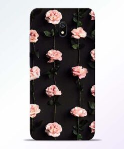 Pink Rose Redmi 8A Back Cover