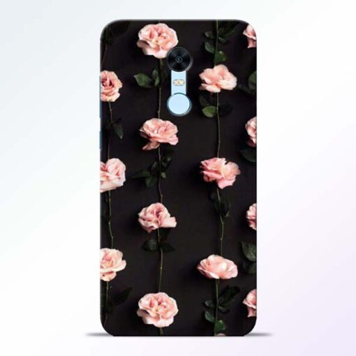 Pink Rose Redmi Note 5 Back Cover