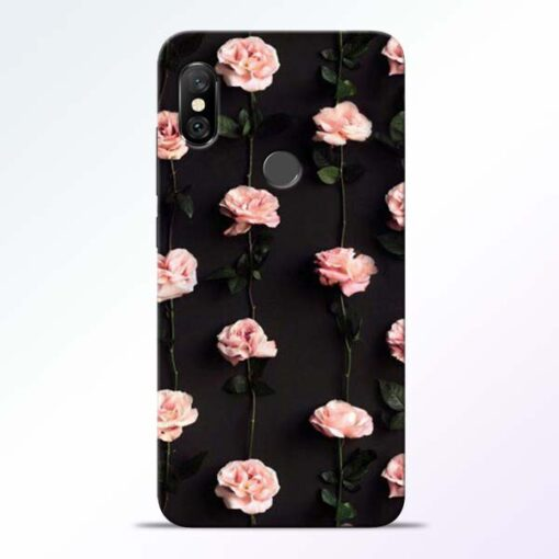 Pink Rose Redmi Note 6 Pro Back Cover
