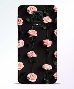 Pink Rose Redmi Note 9 Pro Back Cover