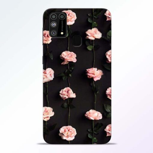 Pink Rose Samsung Galaxy M31 Back Cover