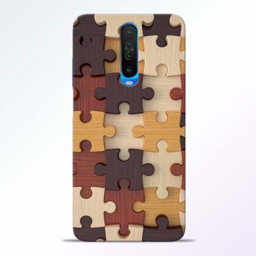Puzzle Pattern Poco X2 Back Cover