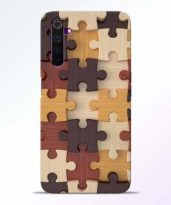 Puzzle Pattern Realme 6 Back Cover