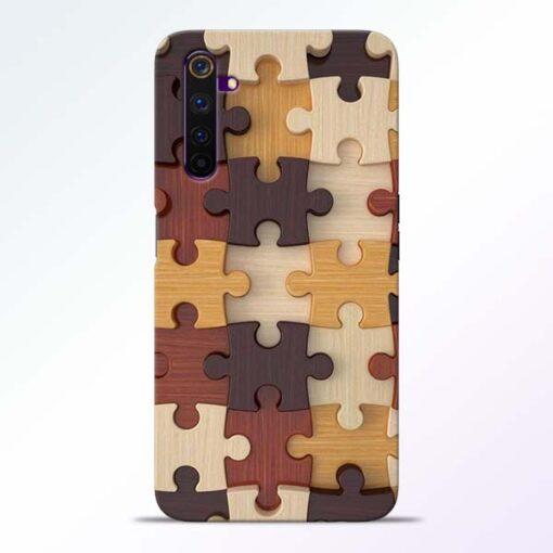 Puzzle Pattern Realme 6 Pro Back Cover