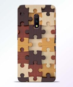 Puzzle Pattern Realme X Back Cover