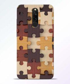 Puzzle Pattern Redmi 8 Back Cover
