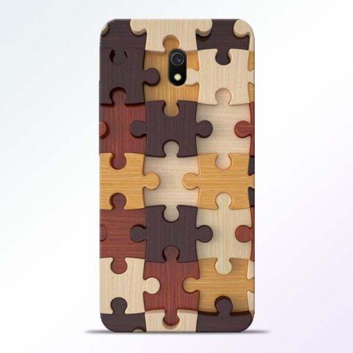 Puzzle Pattern Redmi 8A Back Cover