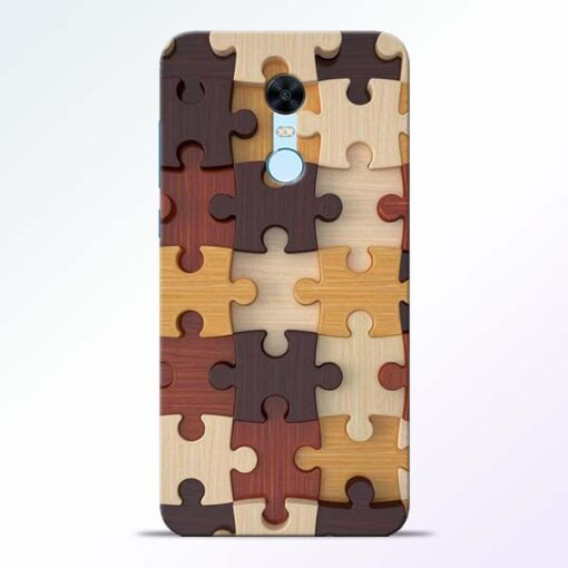 Puzzle Pattern Redmi Note 5 Back Cover