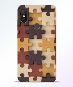 Puzzle Pattern Redmi Note 6 Pro Back Cover