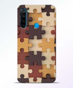 Puzzle Pattern Redmi Note 8 Back Cover