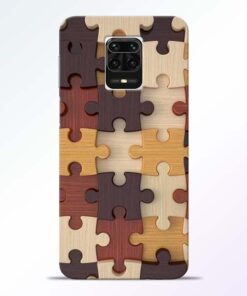 Puzzle Pattern Redmi Note 9 Pro Max Back Cover