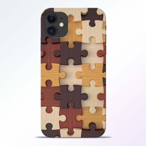 Puzzle Pattern iPhone 11 Back Cover