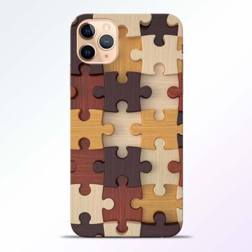 Puzzle Pattern iPhone 11 Pro Back Cover