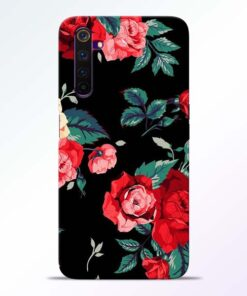 Red Floral Realme 6 Pro Back Cover