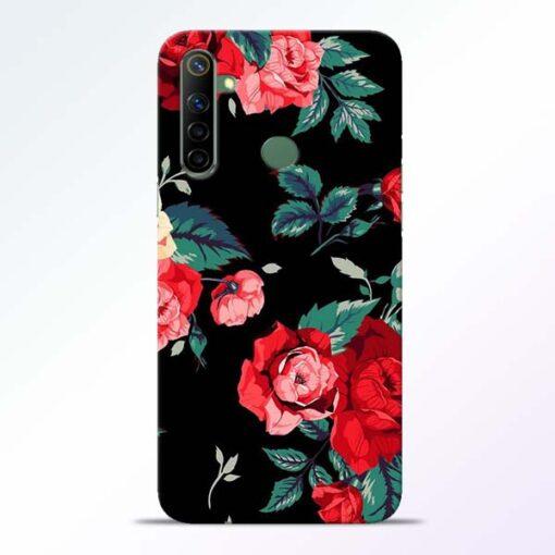 Red Floral Realme 6i Back Cover