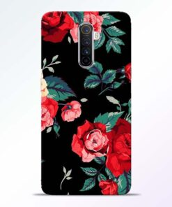 Red Floral Realme X2 Pro Back Cover