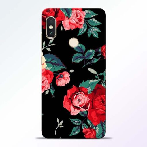 Red Floral Redmi Note 5 Pro Back Cover