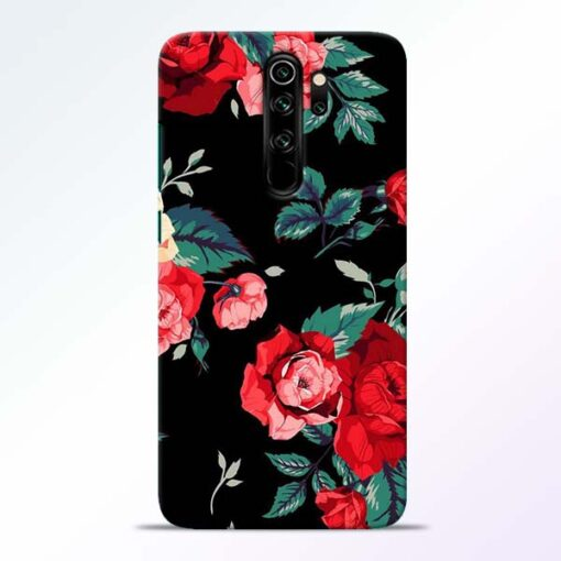 Red Floral Redmi Note 8 Pro Back Cover