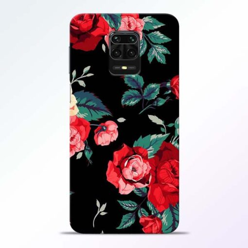 Red Floral Redmi Note 9 Pro Back Cover