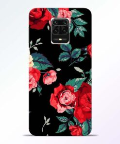 Red Floral Redmi Note 9 Pro Max Back Cover