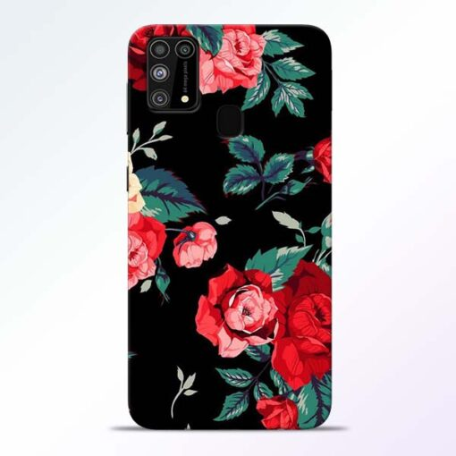 Red Floral Samsung Galaxy M31 Back Cover