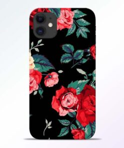 Red Floral iPhone 11 Back Cover