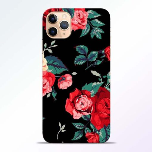 Red Floral iPhone 11 Pro Back Cover