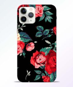 Red Floral iPhone 11 Pro Max Back Cover