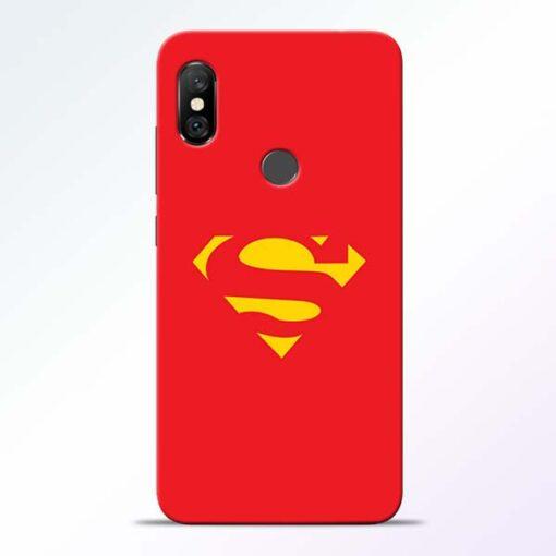 Red Super Redmi Note 6 Pro Back Cover
