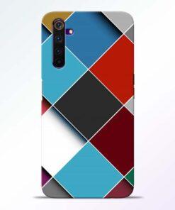 Square Check Realme 6 Back Cover