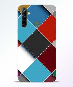 Square Check Realme 6i Back Cover
