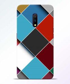 Square Check Realme X Back Cover