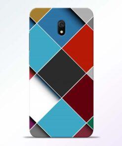 Square Check Redmi 8A Back Cover