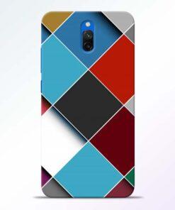 Square Check Redmi 8A Dual Back Cover