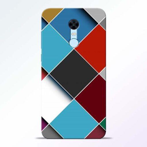 Square Check Redmi Note 5 Back Cover