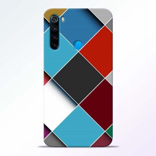 Square Check Redmi Note 8 Back Cover