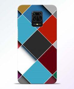 Square Check Redmi Note 9 Pro Back Cover