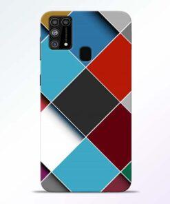 Square Check Samsung Galaxy M31 Back Cover