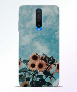 Sun Floral Poco X2 Back Cover