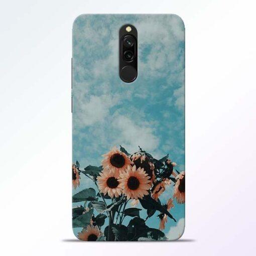 Sun Floral Redmi 8 Back Cover