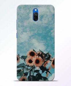 Sun Floral Redmi 8A Dual Back Cover