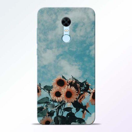 Sun Floral Redmi Note 5 Back Cover