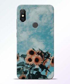 Sun Floral Redmi Note 6 Pro Back Cover