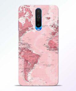 World Map Poco X2 Back Cover