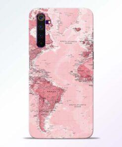 World Map Realme 6 Back Cover
