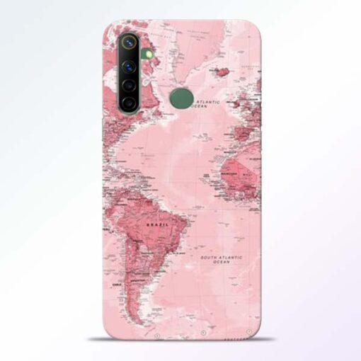 World Map Realme 6i Back Cover