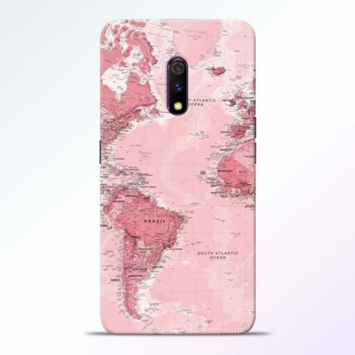 World Map Realme X Back Cover